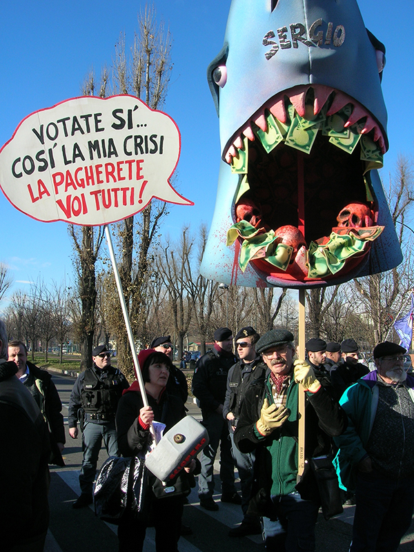 Referendum alla FIAT, Torino, gennaio 2011