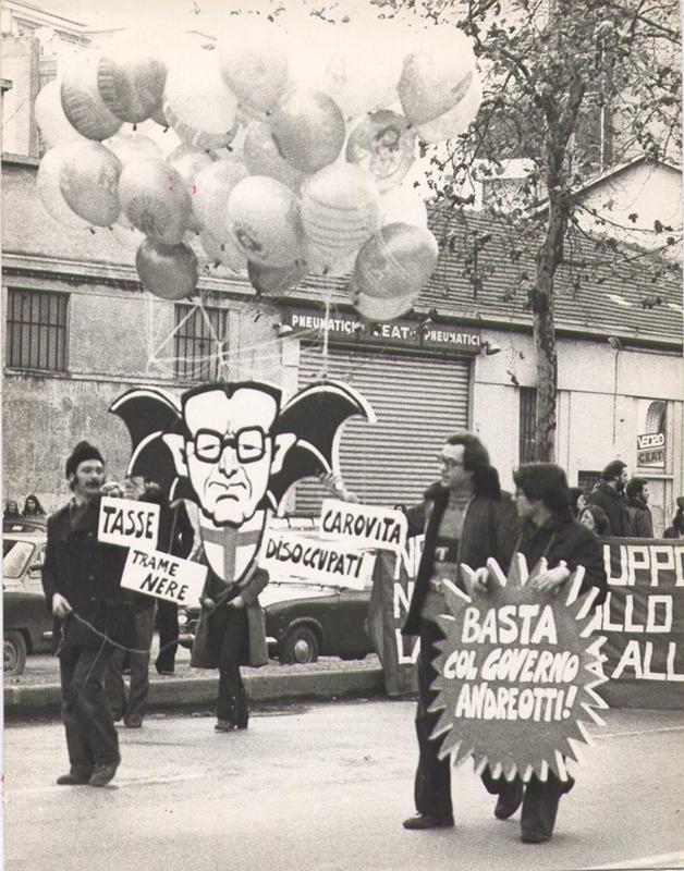 Manifestazione contro il Governo Andreotti, 1977